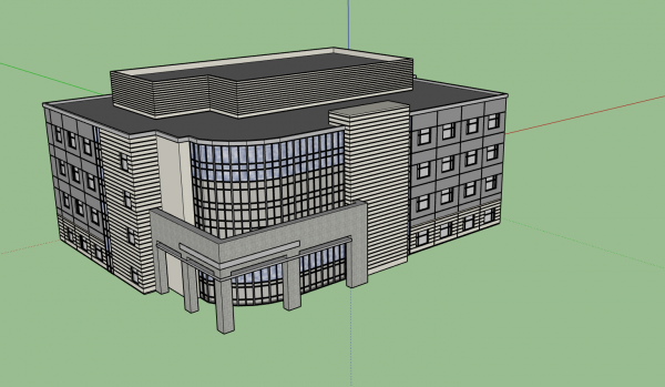 3D Modeler Commercial Building 3D Model