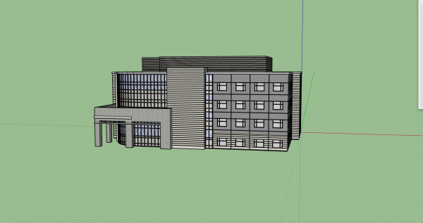 3D Modeler Commercial Building 3D Model Download