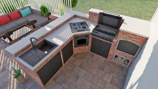 outdoor kitchen 3d design