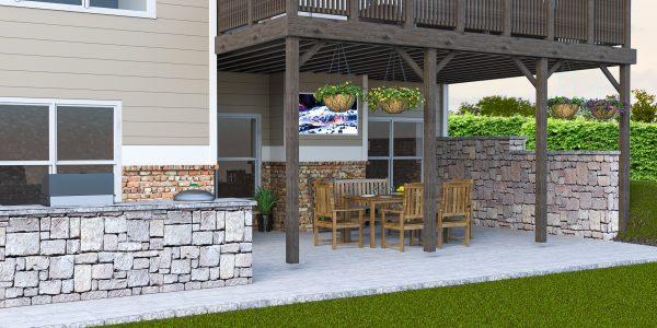 outdoor kitchen design deck