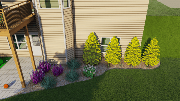 garden bed front yard design