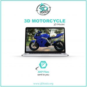 3D-Motercycle-Model-Blue