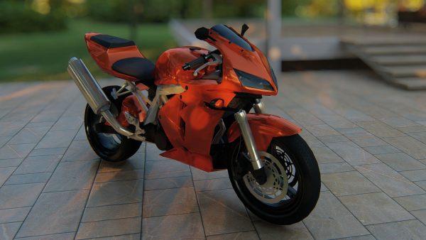3D-motorcycle-model