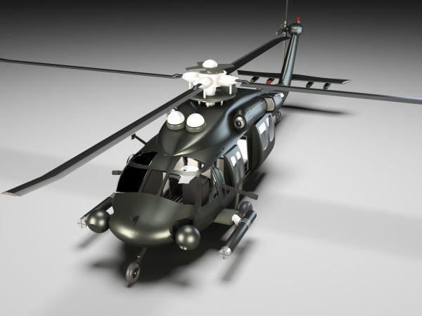 3d-file -helicopter-obj-file-3d-model