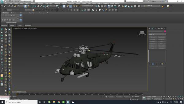 helicopter-obj-file-3d-model-3d tools
