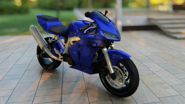 3D-Motercycle-Model-Blue