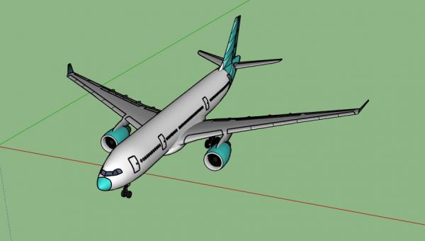 3D plane model boeing