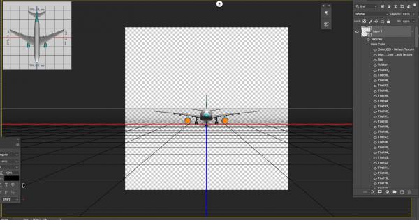 3D OBJ file airplane