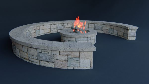 outside- Firepit_3d model
