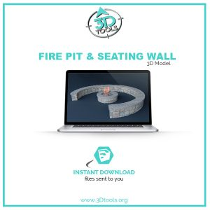 Seating_Wall_with_Firepit_3d-model