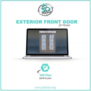 Front French Door 3d Model Download free