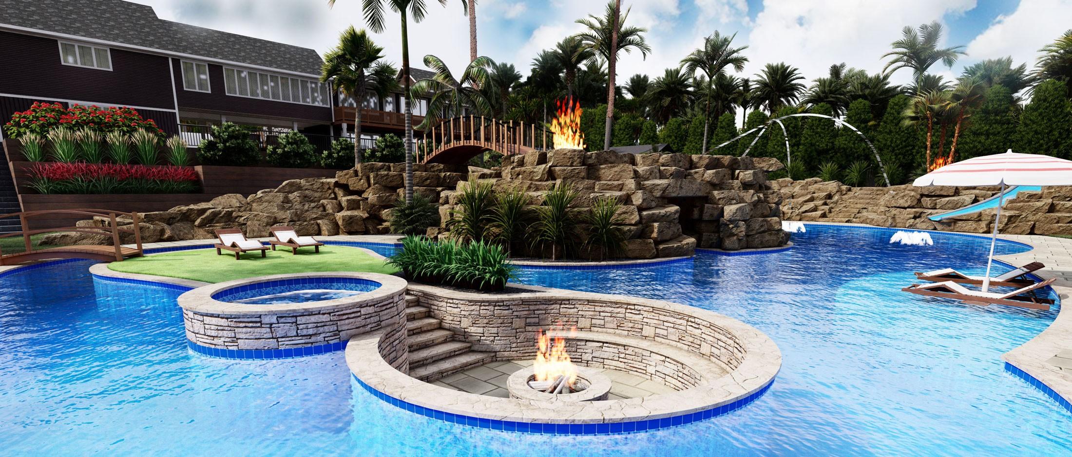 3d pool design mockup tool outdoor
