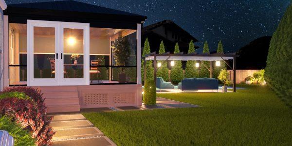 outdoor patio landscape design backyard