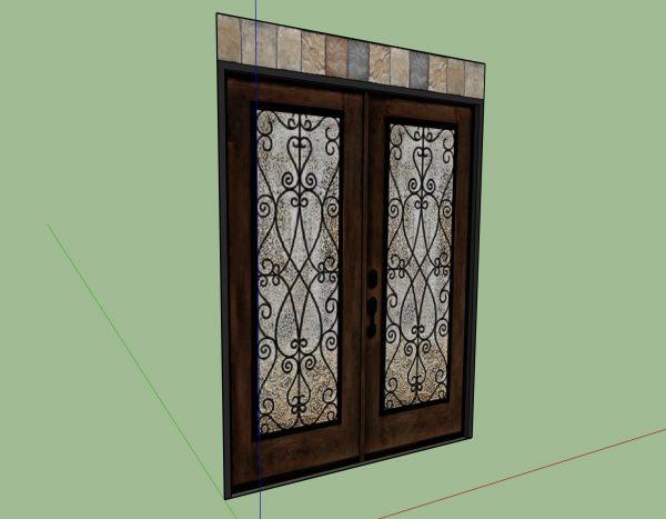 front door sketchup model