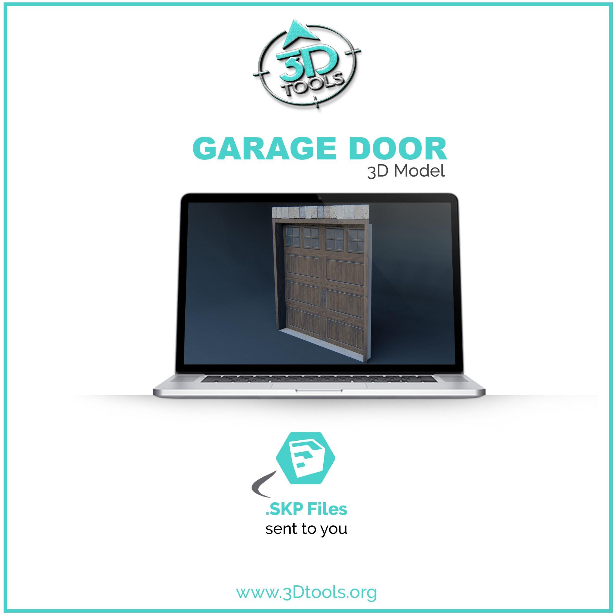 Single Garage Door 3d Model Residential 3d Sketchup Model