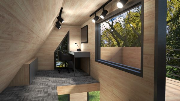tiny house design office loft