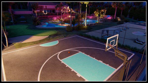 Personal Basketball Court Design Service 3d designer