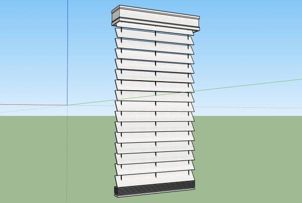 Single Window Blinds 3d model sketchup
