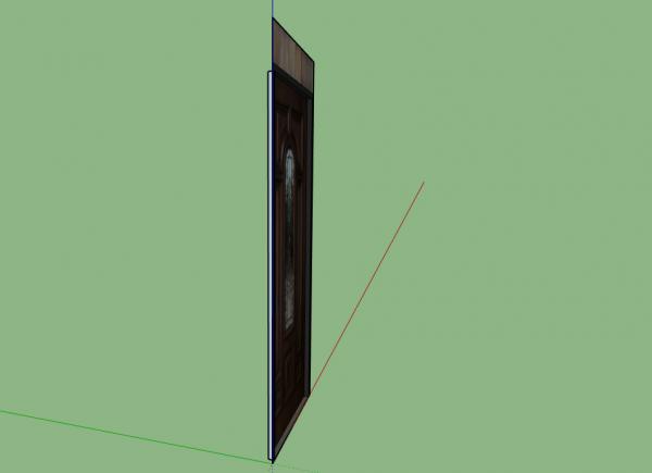 Front Door 3D Model sketchup