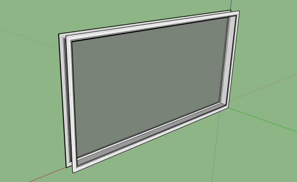 High-Quality single window 3D Model for a residential house - Window 3D Model download