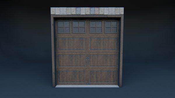 Garage Door 3d model house
