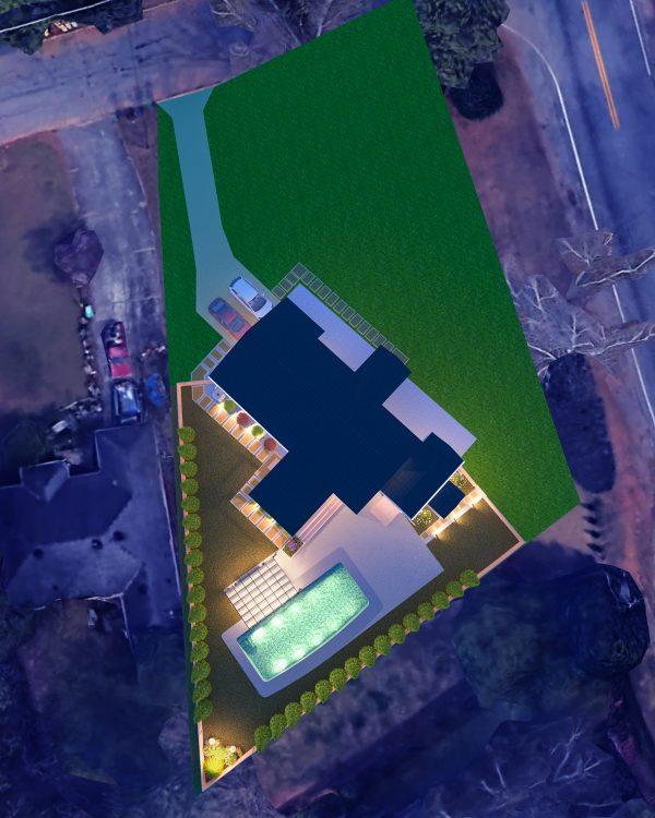 outdoor living space pool designer planner