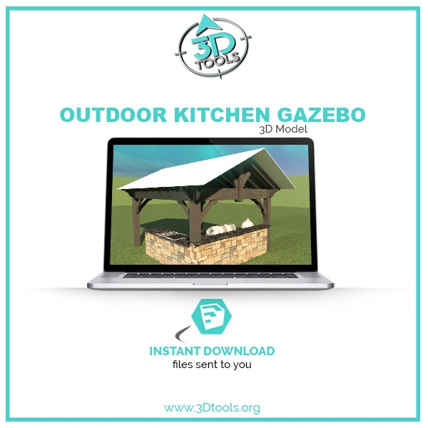 3d-models-download-OUTDOOR-KITCHEN-GAZEBO