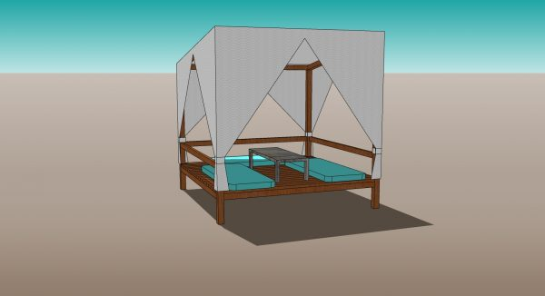 Outdoor Gazebo with canopy 3d model download