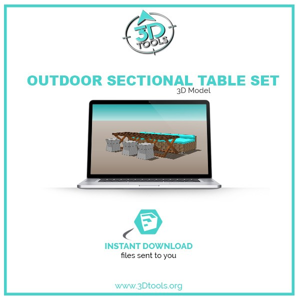 Outdoor-Sectional-and-table-set-3d-tools