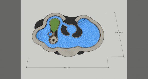 3d pool design model