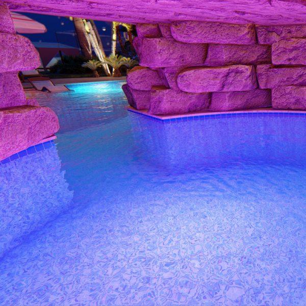 3d pool landscape design rendering mockup