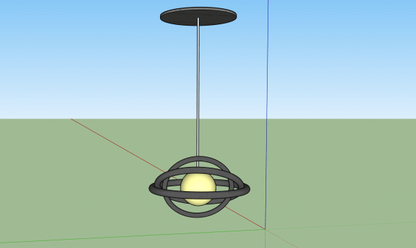 3d model light fixture sketchup skp