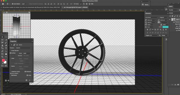 3D printer model stl wheel rim rims tire download obj file photoshop
