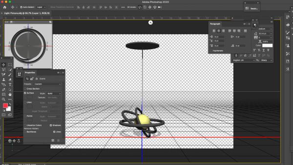3D light fixture model psd photoshop