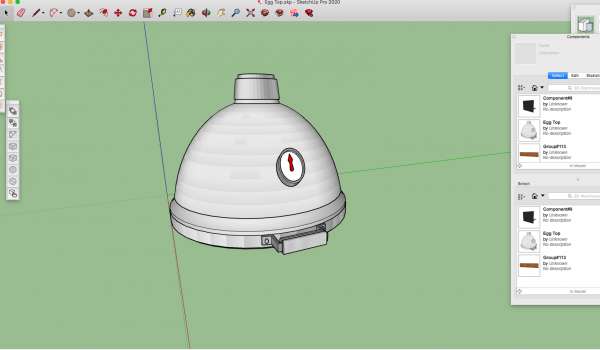 3d egg grill model sketchup skp downloadable