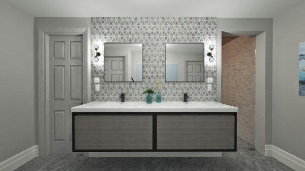 3d bathroom design designer mockup rendering
