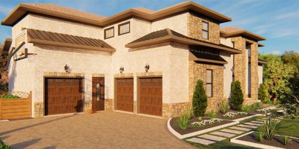 front yard 3d landscape design rendering - 3d -tools