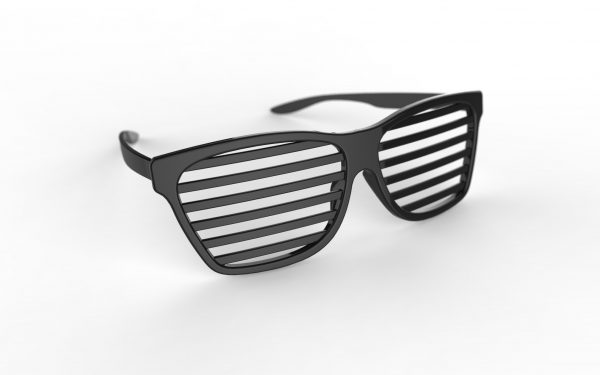 3D printer model stl costume sunshades download obj file black