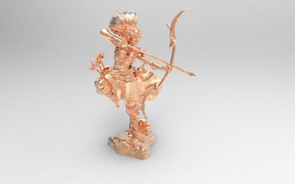 3D printer models stl file character archer female collectible hobby top pen holder download obj file 3d tools