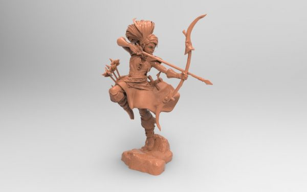 3D printer models stl file character archer female collectible hobby top pen holder download obj file 3d creality file