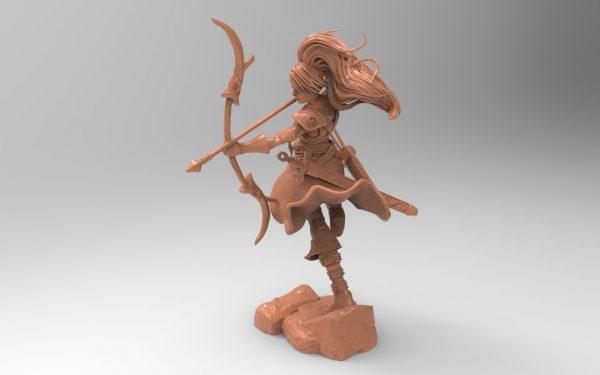 3D printer models stl file character archer female collectible hobby top pen holder download obj file hobby