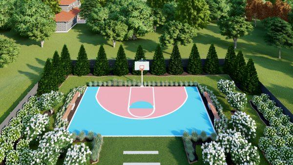 basketball court design designer 3d