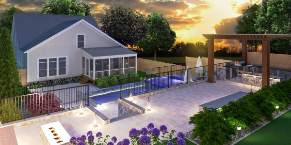 landscape pool deck designer plans 3d