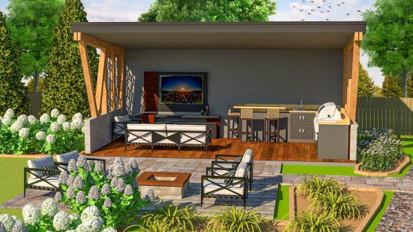 frank lloyd wright design plans pergola outdoor kitchen