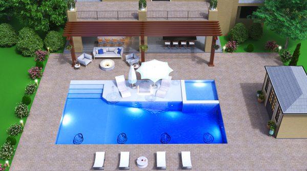 landscape pool deck designer plans 3d modern