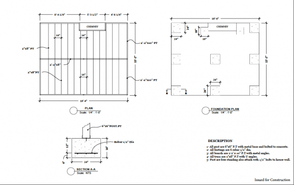 autocad technical design plans service footings