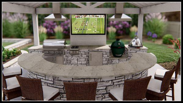3d design outdoor kitchen