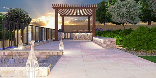 gazebo trellis design deck lounge area modern