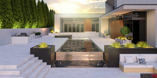modern pool design builder designer 3d modeler